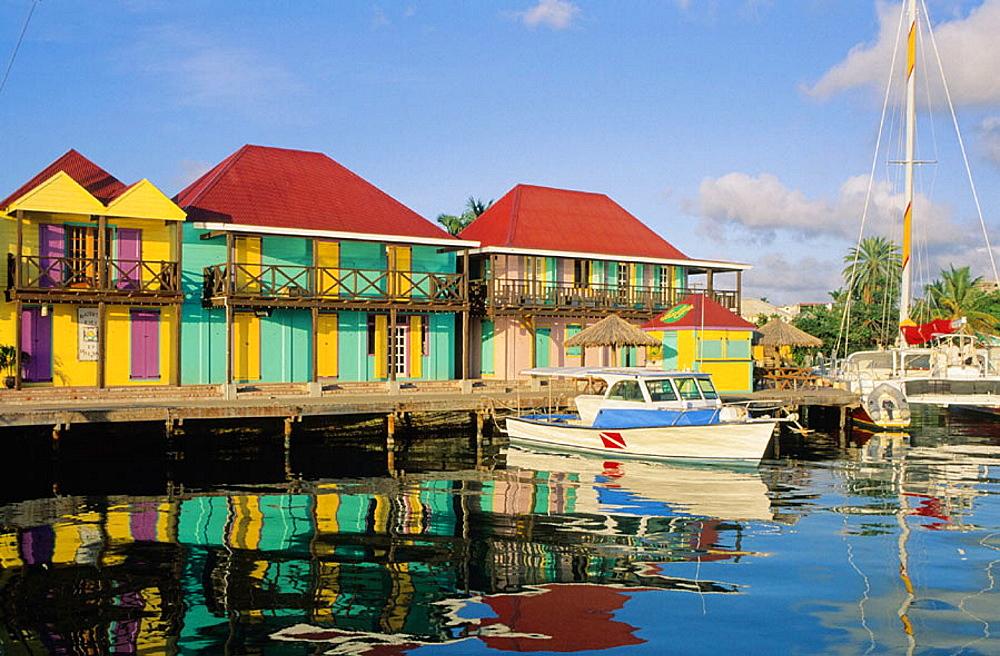 Heritage Quay, Saint John's, Antigua island, Antigua and Barbuda, West Indies, Caribbean