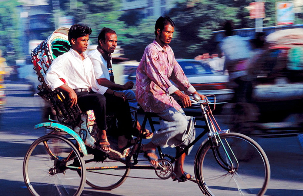 Bicycle rickshaws, Dhaka, Bangladesh