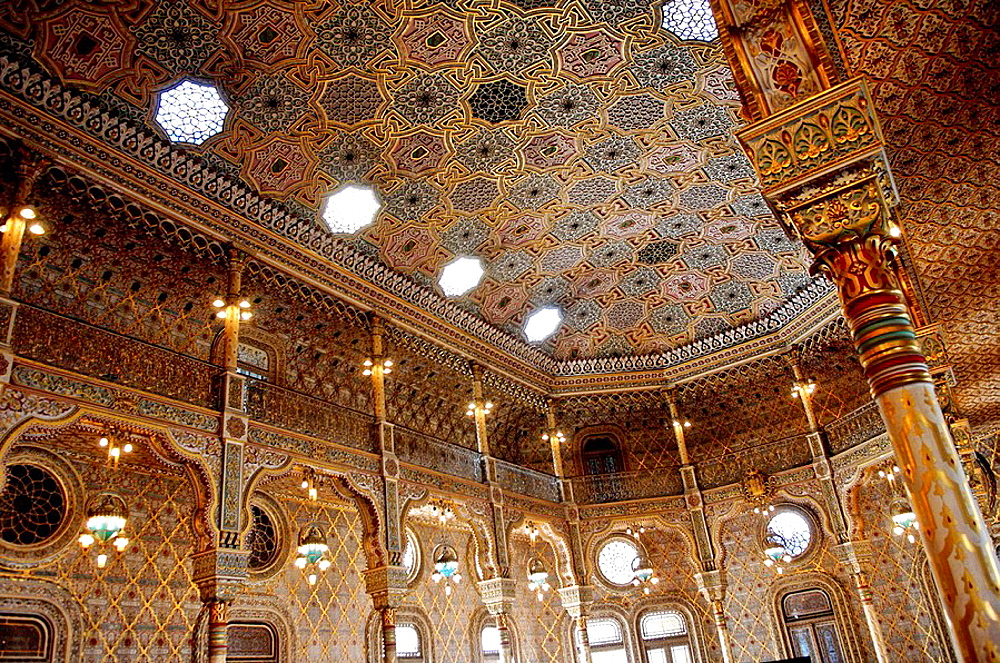 Moorish revival Arab Room in the Palacio da Bolsa (Stock Exchange Palace), Porto, Portugal