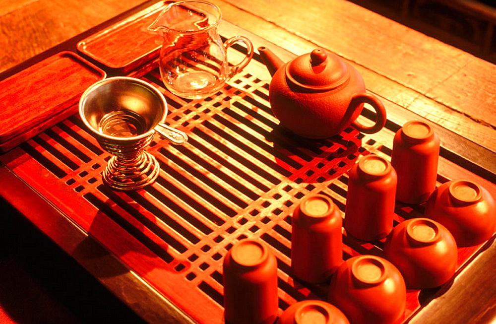 Traditional tea house, Shanghai, China