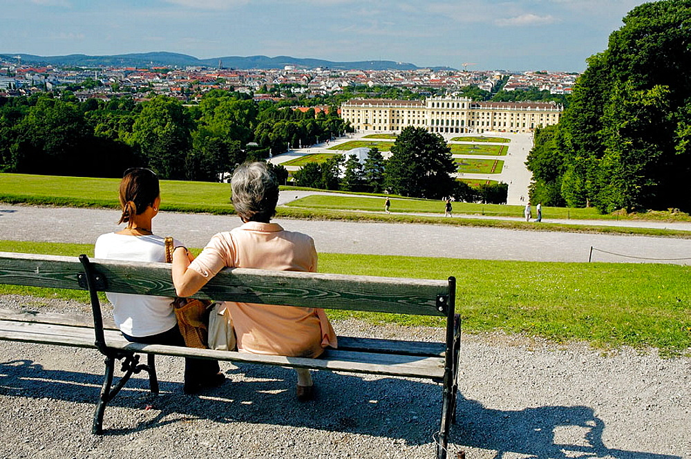 Tourists enjoying the Vienna skyline, Austria, 2006