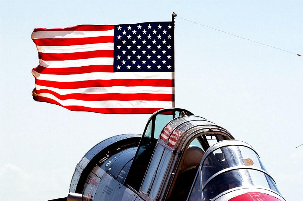 World War II aircraft on display, Selfridge Air Force Base, Mt, Clemens, Michigan, USA