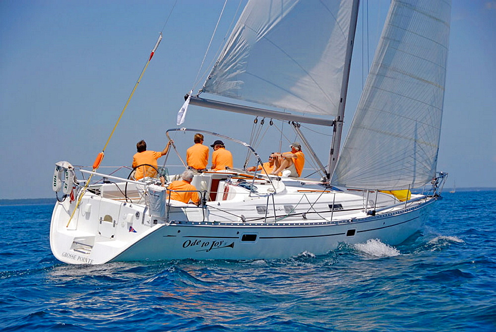 The annual sailboat race between Port Huron and Mackinaw Island Michigan requires teamwork