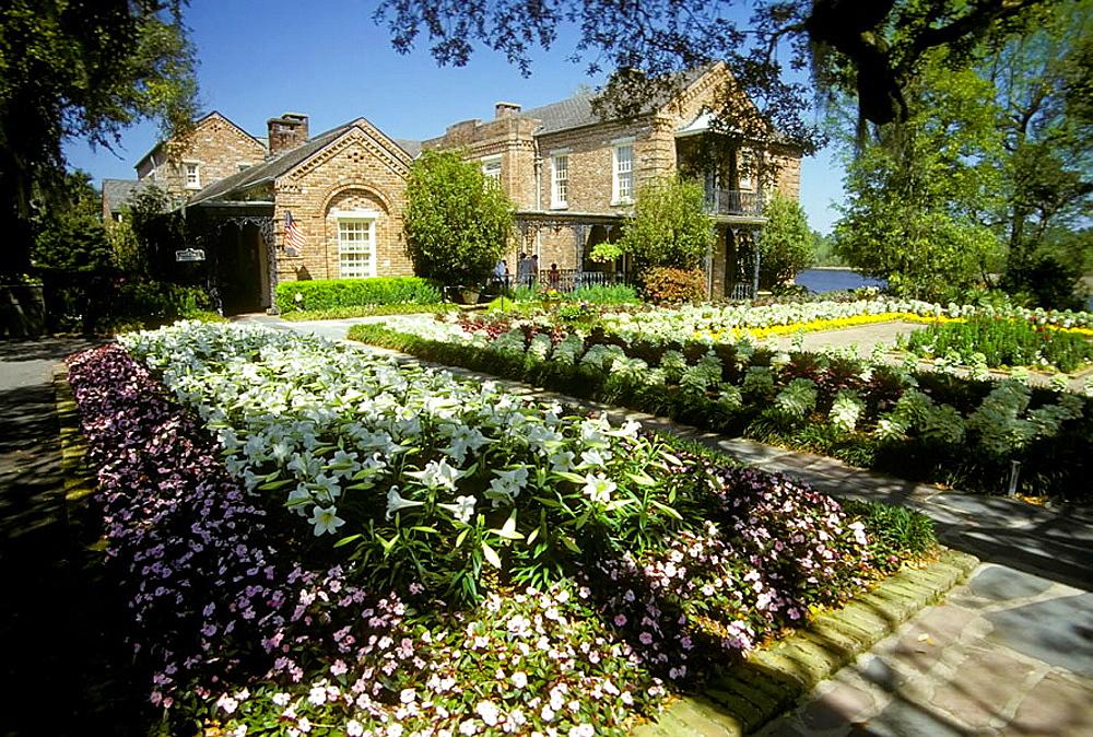 Famous Bellingrath flower garden in Theodore Alabama, USA