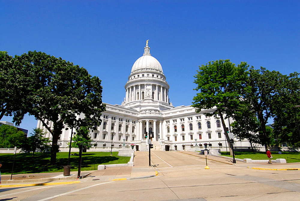 The State Capitol Building at Madison Wisconsin, USA