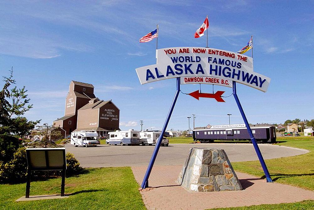 Northern Alberta Railway Park Dawson Creek British Columbia BC, Canada Alaska Highway Al_Can ALCAN Mile Zero City Welcome