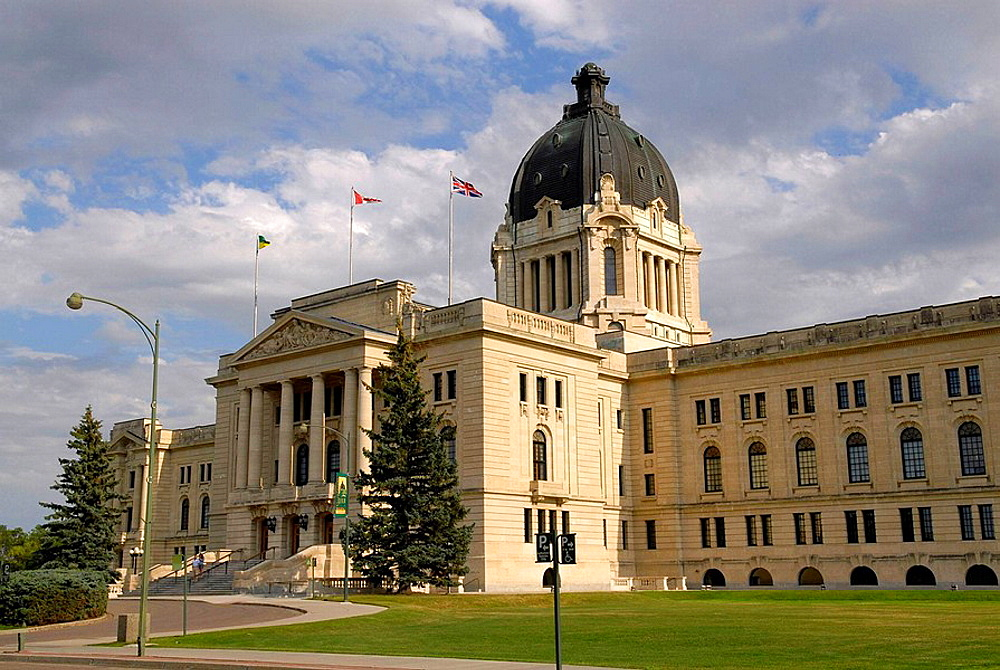 Provincial Capital Legislative Building Regina Saskatchewan Canada Queen City designed by Edward and W, S, Maxwell Beaux Art Style