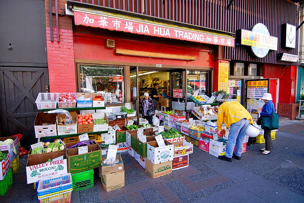Vendors Shops Stores Restaurants China Town Area of Victoria British Columbia BC Canada ethnic ethnicity asian settlers vacation travel visitors tour tourism tourist sightseeing