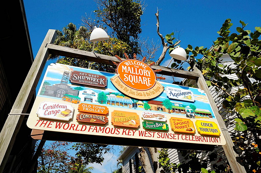 Mallory Square shopping area at Key West Florida