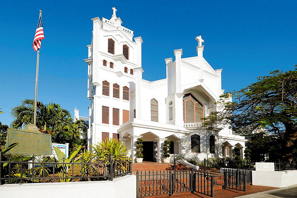 St Pauls Episcopal Church of 1832 in downtown Key West Florida
