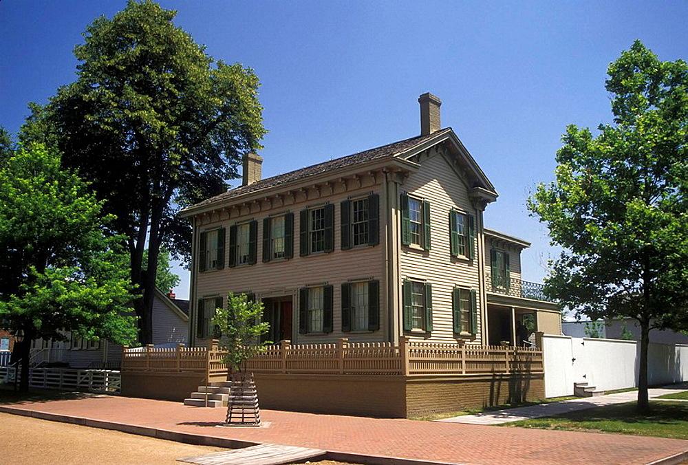 Historic Abraham Lincoln home Springfield Illinois