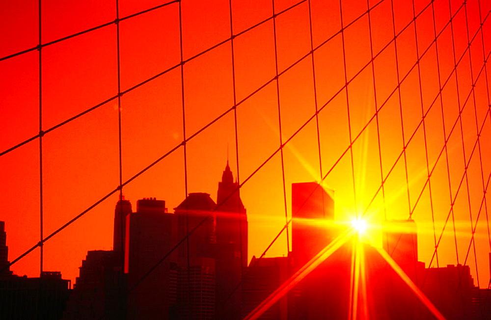 Sunset over Manhattan, New York City, USA - 817-151784