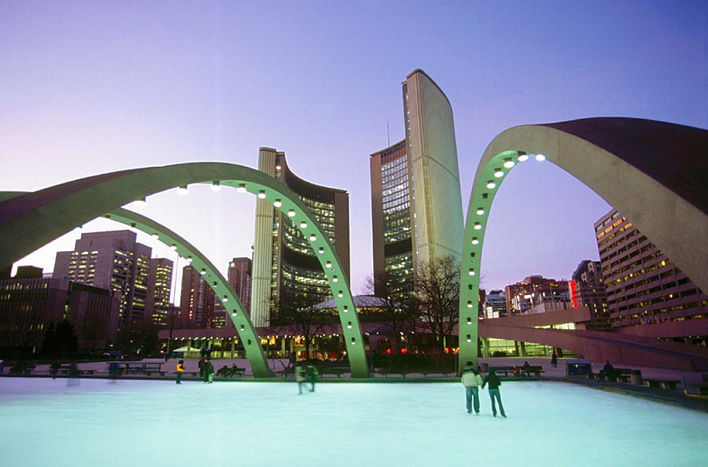 Nathan Phillips Square and City Hall, Toronto, Canada