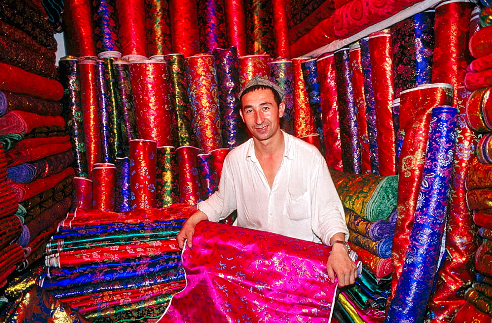 Bazaar of Kashgar (Kashi), Uighur Autonomous Region of Sinkiang (Xinjiang), China