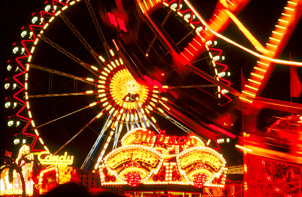 Octoberfest amusement rides, Munich, Bavaria, Germany - 817-154839