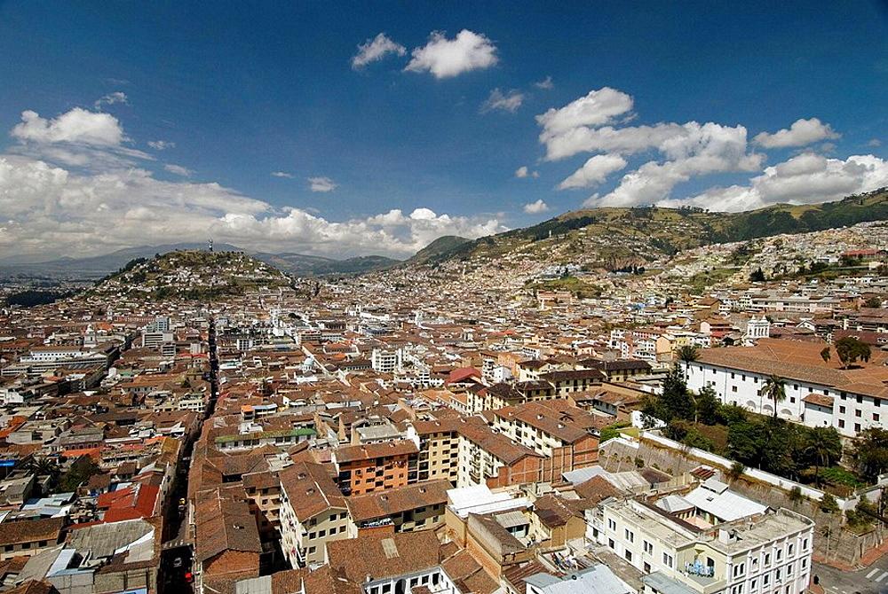 Quito Old Quarter from the Basilica El Voto National Quito Ecuador South America 2007