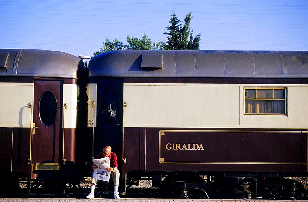 Al Andalus Express Train in Ronda station, Andalusia, Spain