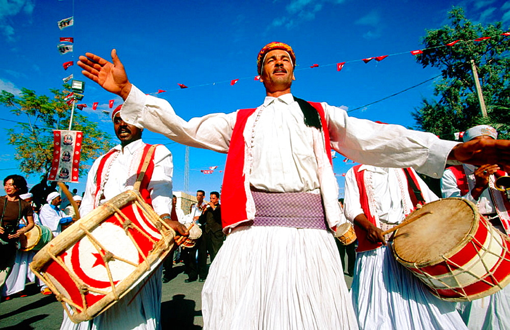 Folklorical Group from Tunisia city, Sahara's Festival, Douz, Tunisia