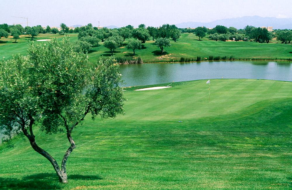Club San Jorge, Golf and Country view, Costa de Azahar, Castellon, Spain.