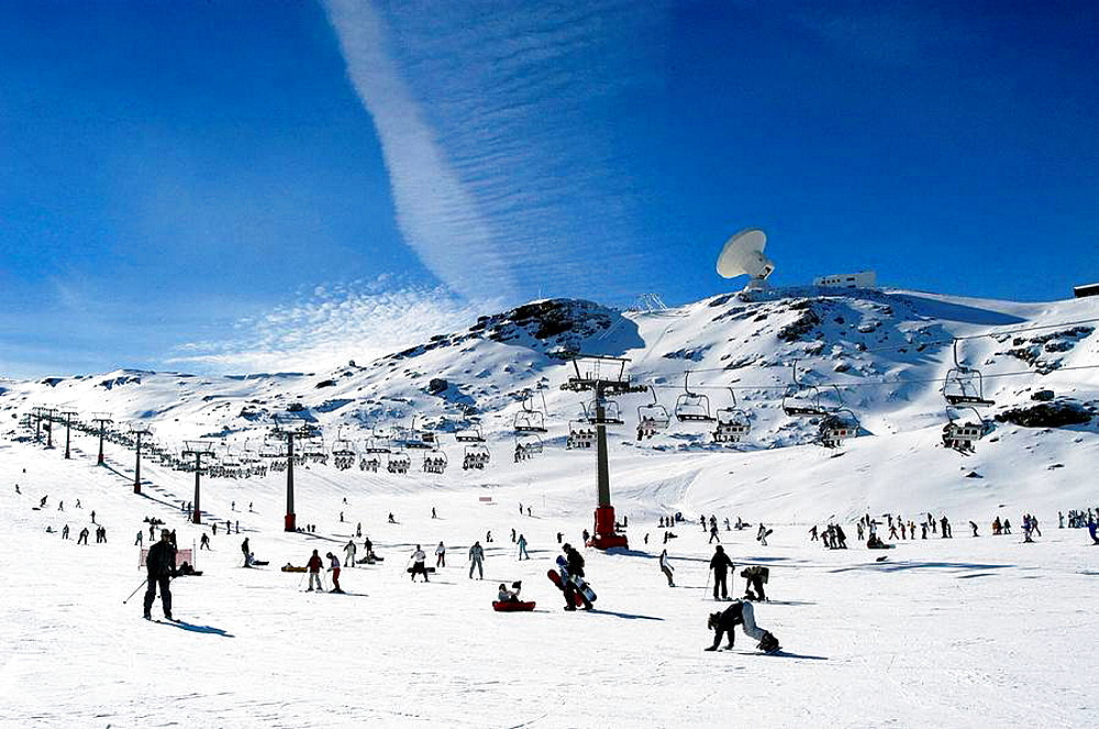 Ski resort of Sierra Nevada in Granada province
