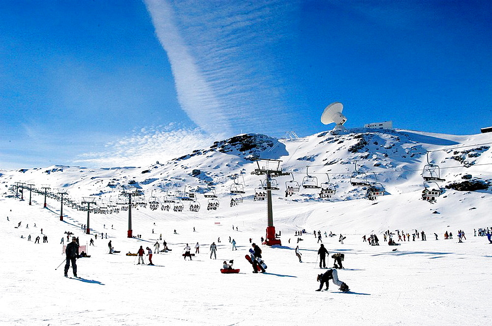 Ski resort of Sierra Nevada