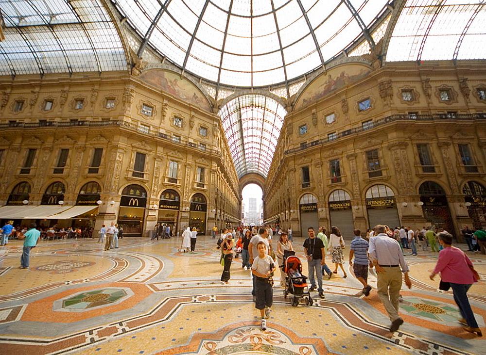 Italia, Lombardia, Milano, galleria Vittorio Emanuele