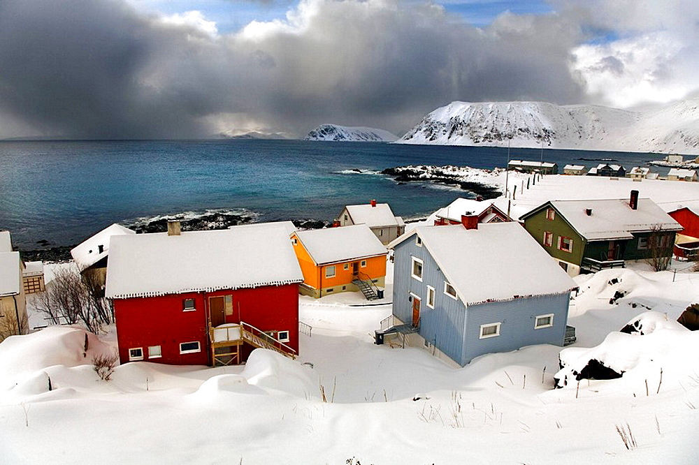 Honningsvag, Puerta a Nordkapp (Cabo Norte), Finnmark, Lapland, Norway. - 817-16434