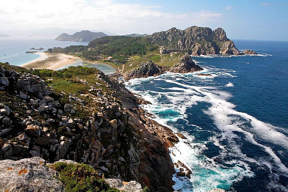 Cies Islands Natural Park, Pontevedra province, Spain.