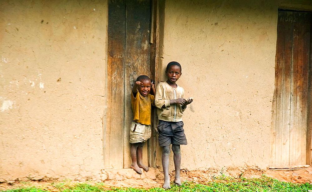Two boys, Uganda, Africa