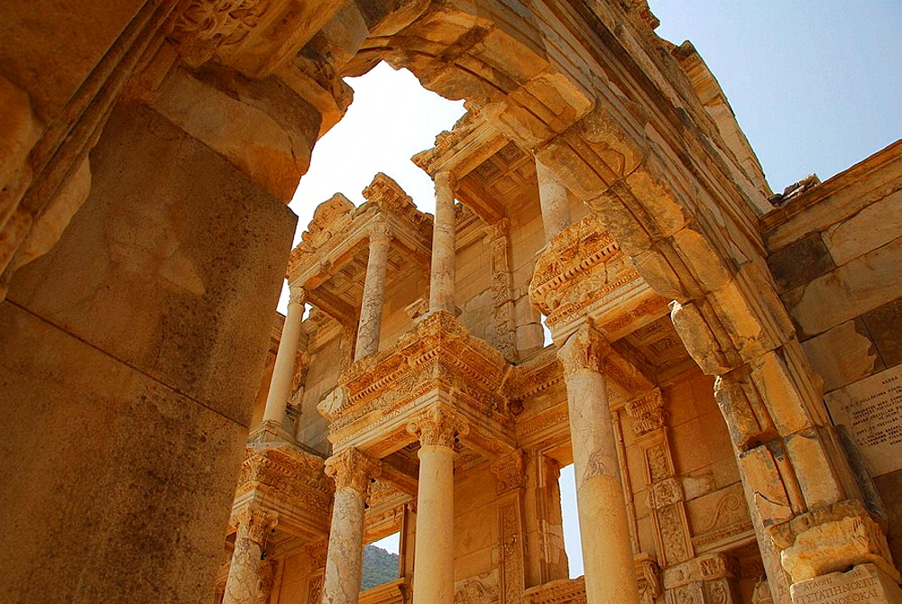 Celsus Library from Mazeus and Mithridates' Gate, Ephesus, Turkey