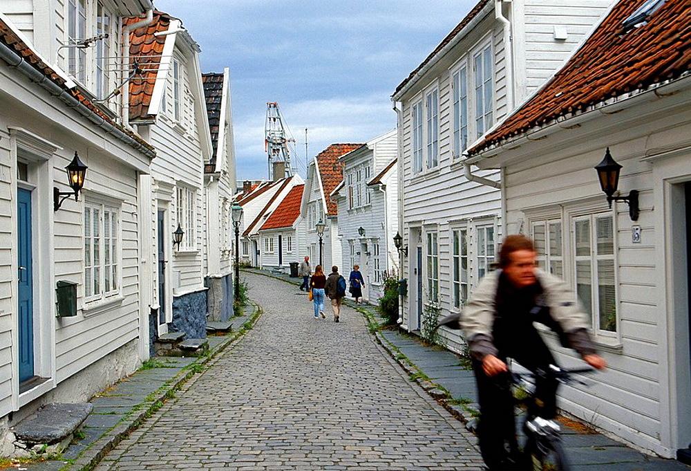 Old Stavanger, Ovre Strandgate street, Stavanger, Norway.