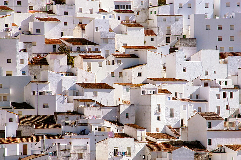 White town of Casares, Malaga province, Andalusia, Spain - 817-166084