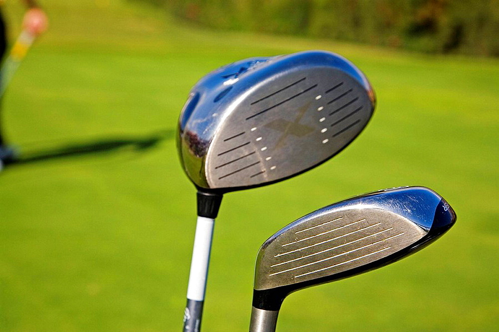 Golf clubs, Practice golf course, Costa del Sol, Andalusia, Spain