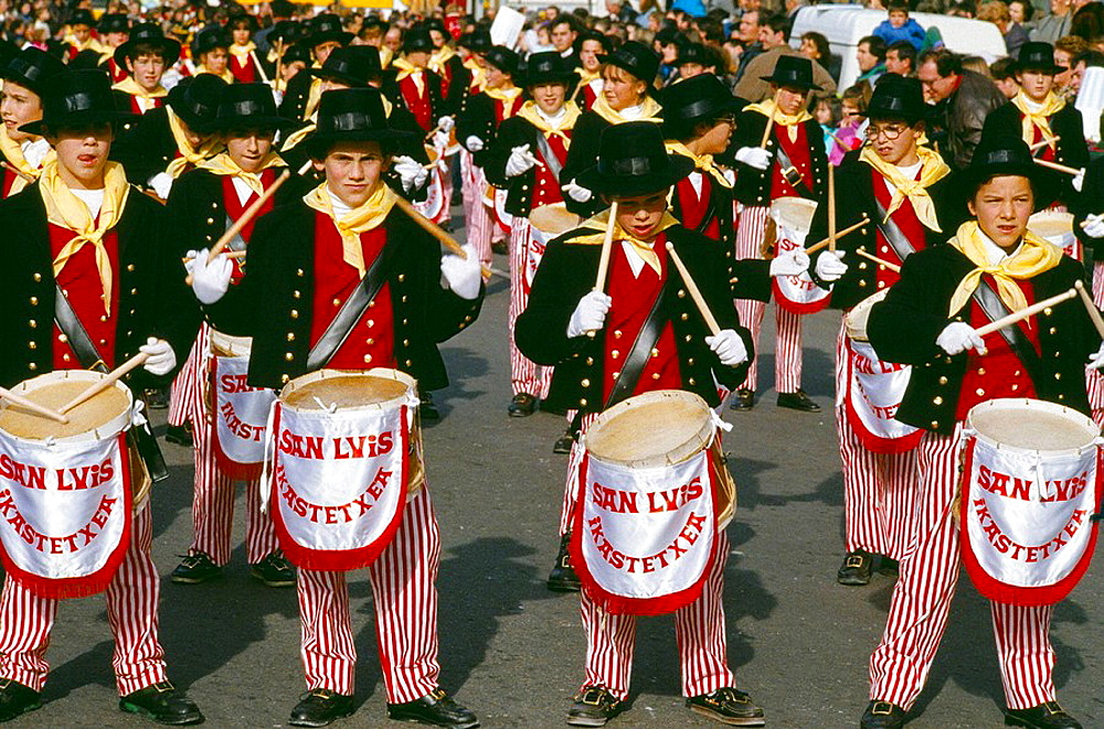 Tamborrada' festival on 20 January, San Sebastian, Guipuzcoa, Basque Country, Spain