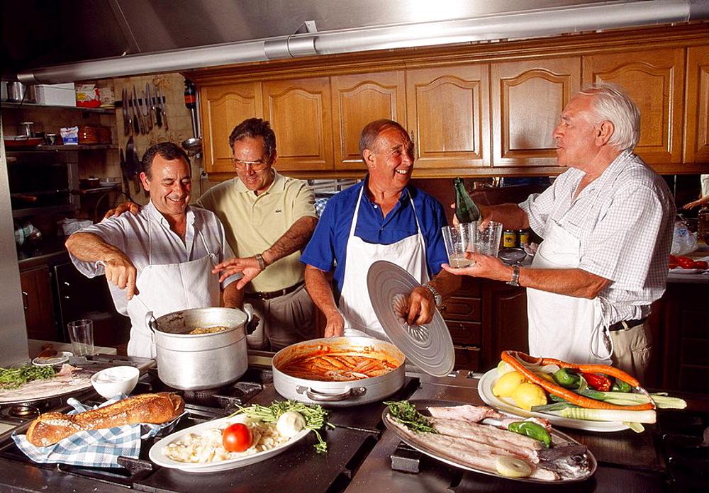 Sociedad Gaztelubide 'txoko' (gastronomical society), San Sebastian, Guipuzcoa, Basque Country, Spain
