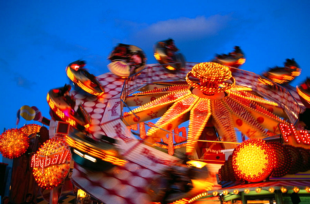 Carnival ride during Oktoberfest, Munich, Germany - 817-1669