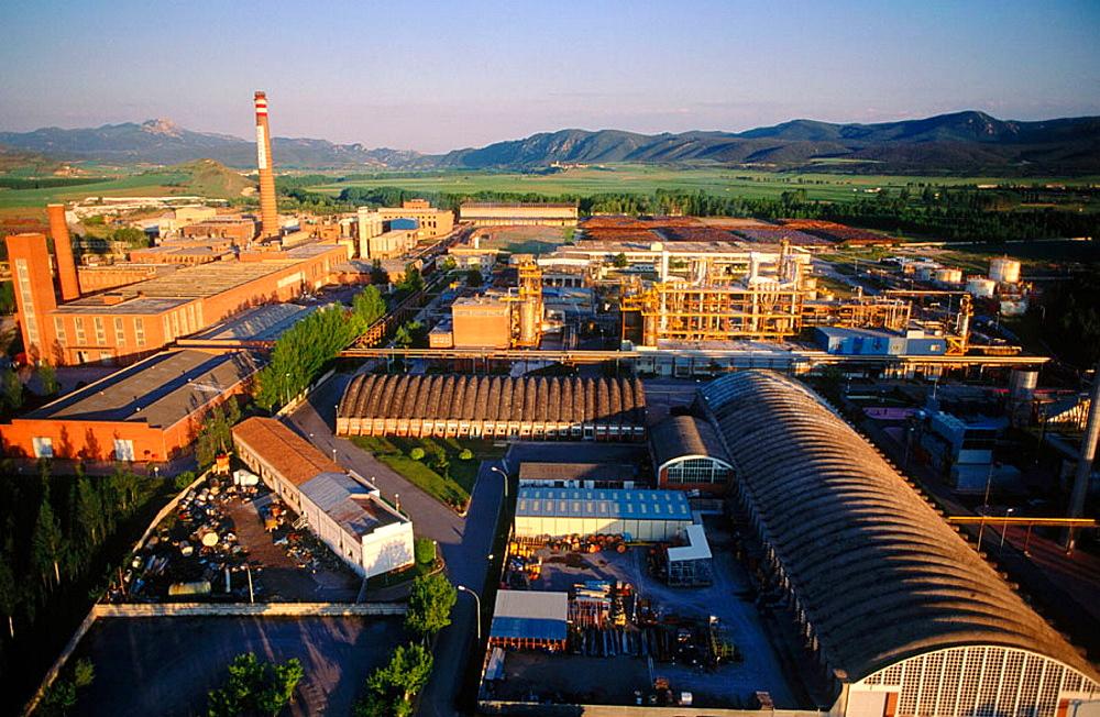 Pulp and paper industry, Miranda de Ebro, Burgos province, Castilla y Leon, Spain.