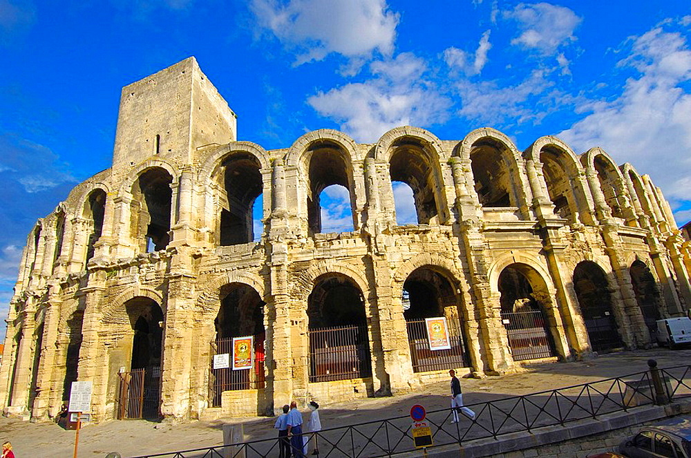 Roman ampitheatre les Arenes Arles Bouches du Rhone Provence France