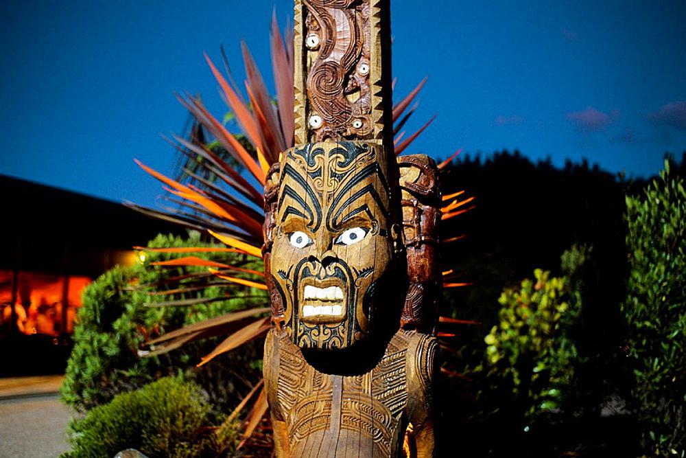 Maori deity, Rorotua, North Island, New Zealand