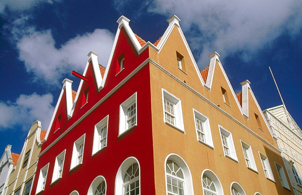 Dutch architecture in the Punda side of Willemstad, Curacao, Netherlands Antilles