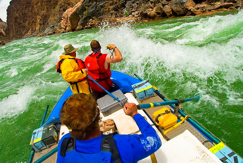Whitewater rafting, Grapevine Rapid, Grand Canyon, Grand Canyon National Park, Arizona USA