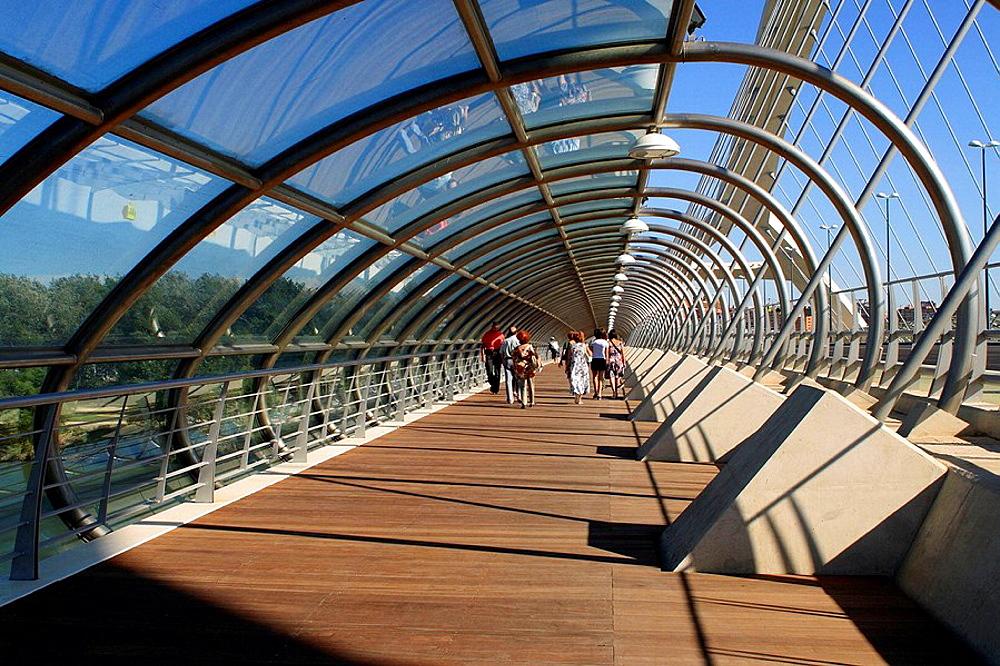 Third Millenium Bridge by engineer Juan Jose Arenas, Expo Zaragoza 2008, Zaragoza, Aragon, Spain