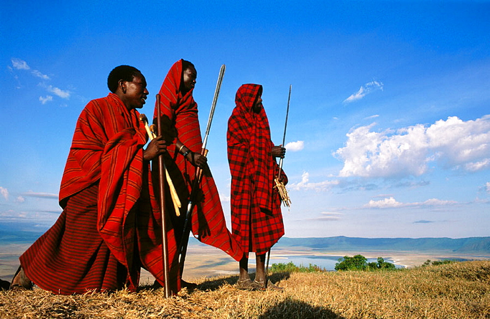 Masai at the edge of the Ngorongoro, Tanzania