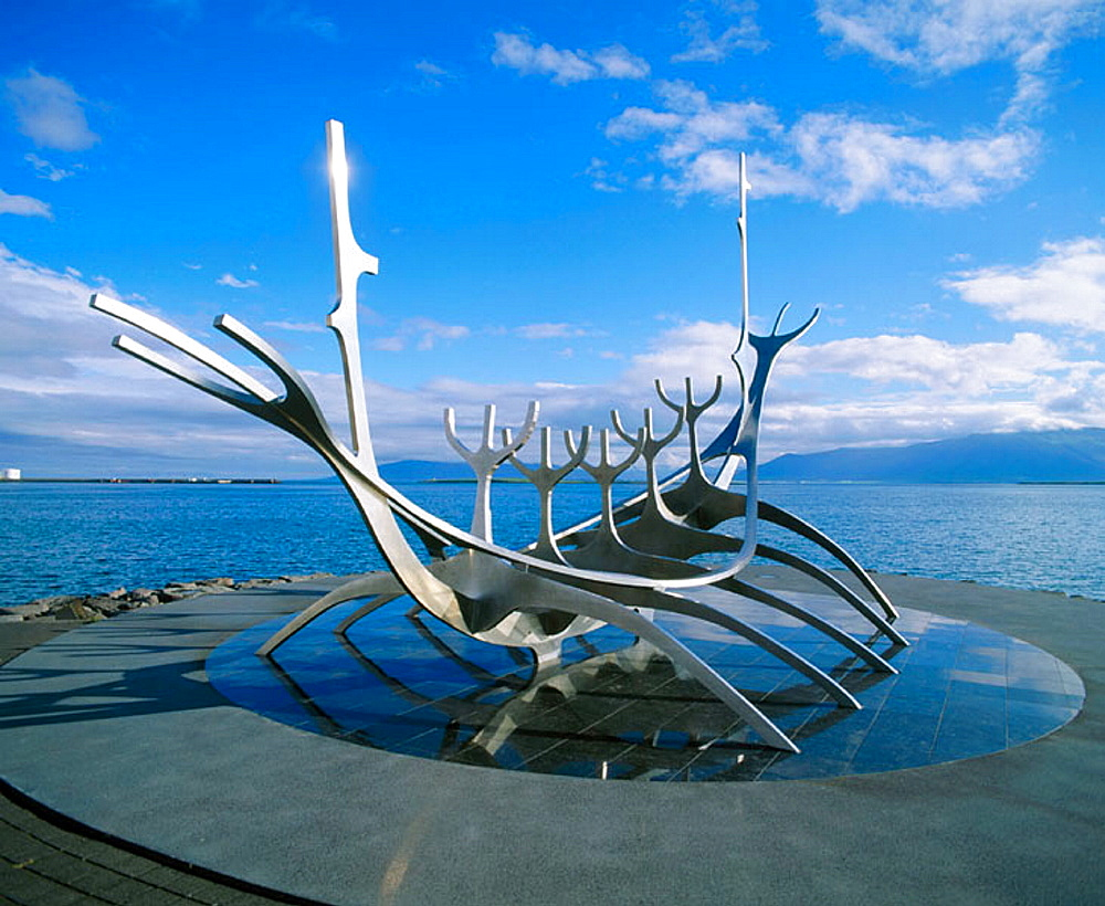 Viking ship sculpture, Reykjavik, Iceland