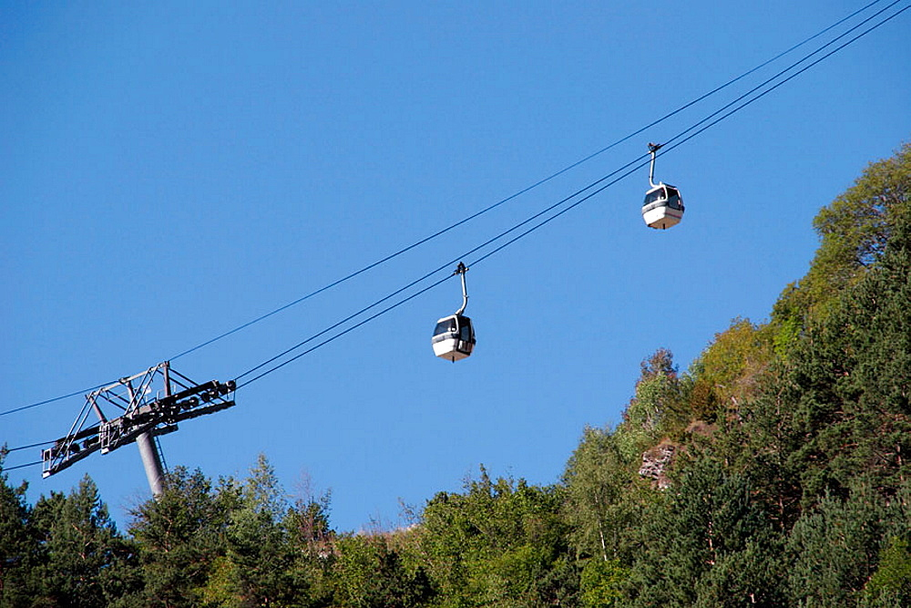 Cable railway, Pal-Arinsal, Andorra