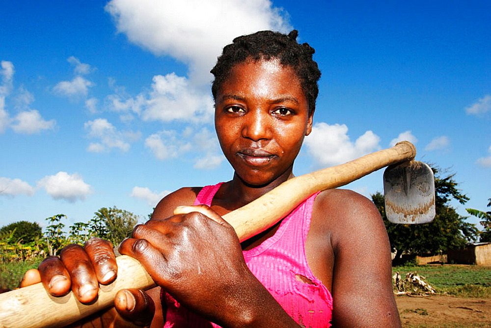 Peasant working woman, Mozambique