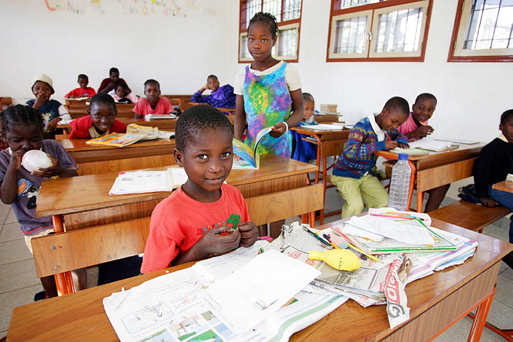 Children at school, Maputo, Mozambique
