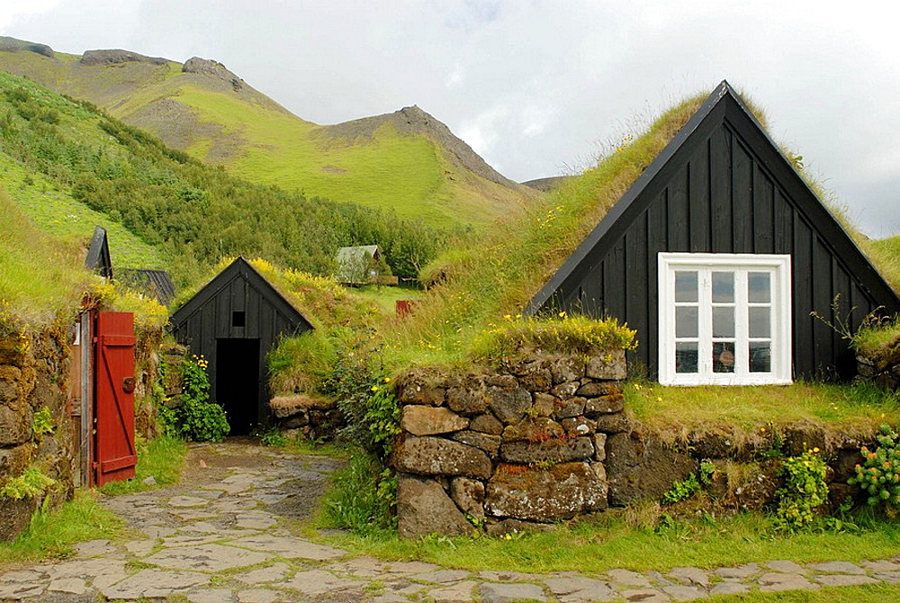 Old traditional farms (now an open-air folk museum), Skogar, Iceland - 817-183604