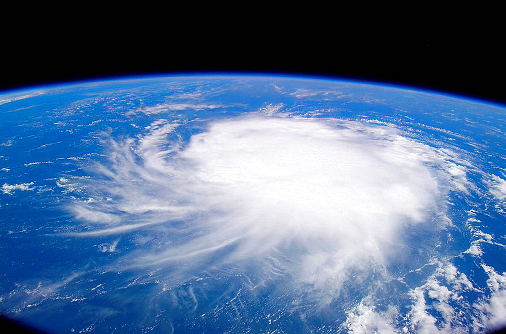 Tropical Storm Chris was located to the east of Puerto Rico and the Leeward Islands at 9:29 am, (CDT), August 2, when one of the members of the Expedition 13 crew onboard the International Space Station recorded this still image.