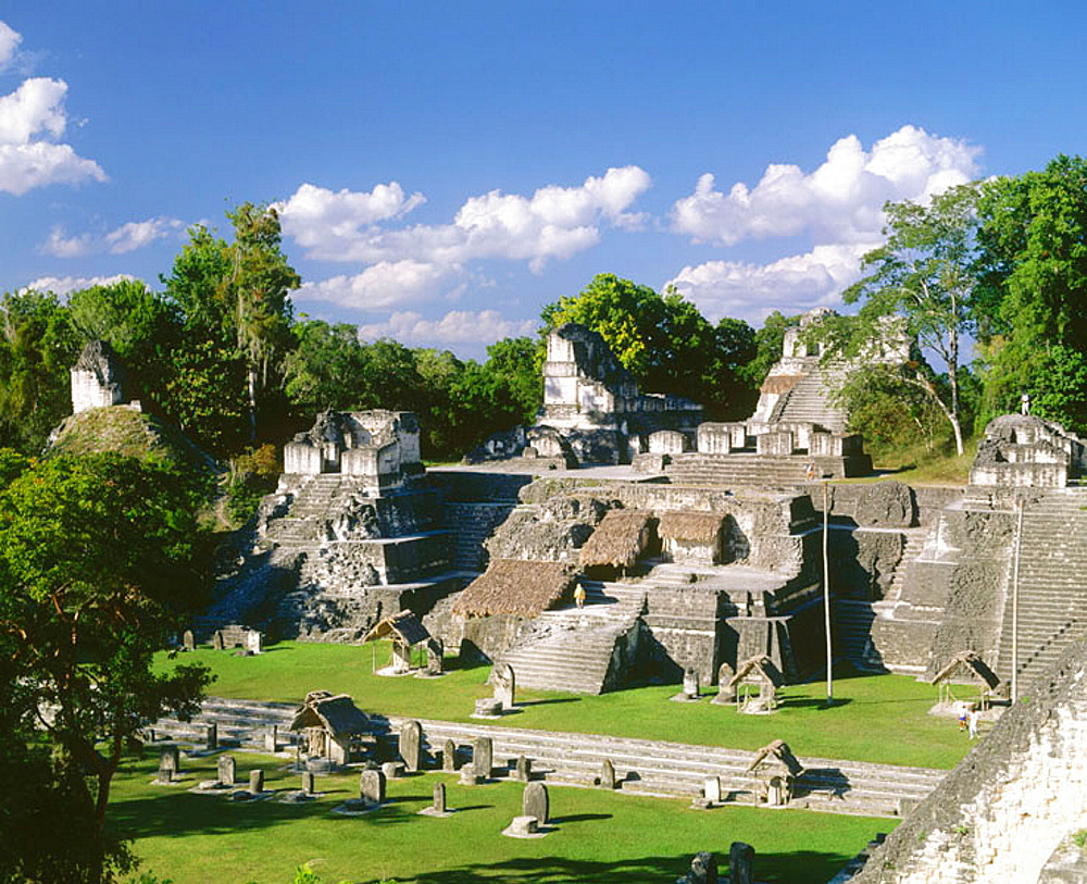 North Acropolis, Mayan ruins of Tikal, Peten region, Guatemala